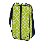 Sunset Wine Tote for 2 with Glasses  - Trellis Green