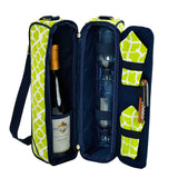 Sunset Wine Tote for 2 with Glasses  - Trellis Blue Collection
