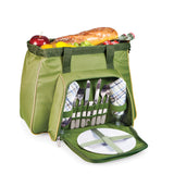 Toluca- Shoulder Pack For 2 - Pine Green W/Tan