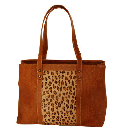Leopard Cork Handbag Purse tote