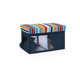 Ottoman Cooler - Teal with Fun Stripe