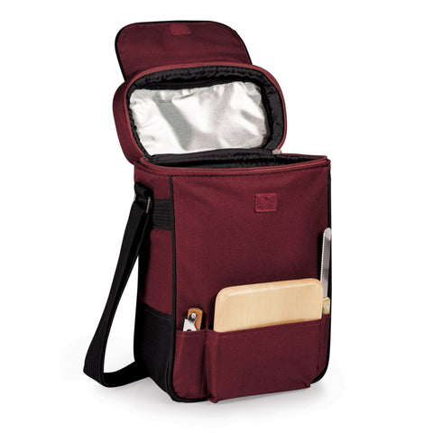 Duet-Burgundy Dlx 2 Bottle Wine Tote