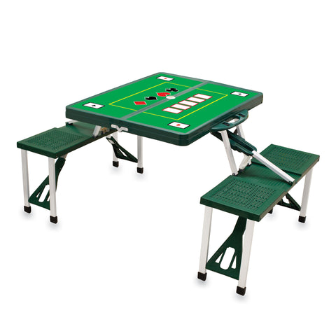 Hunter Green Picnic Table W/ Poker Imprint