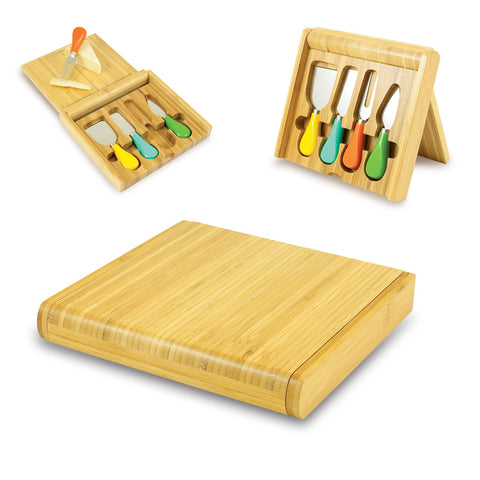 Carnaval -  Bamboo Cutting Board W/Colored Cheese Tools