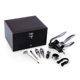 Cabernet - Wine Accessory Box-8Pc-Black Leatherette