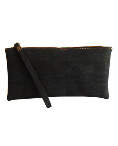 Blue cork Pochette clutch