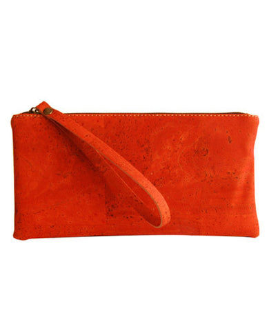 Red Pochette clutch purse features