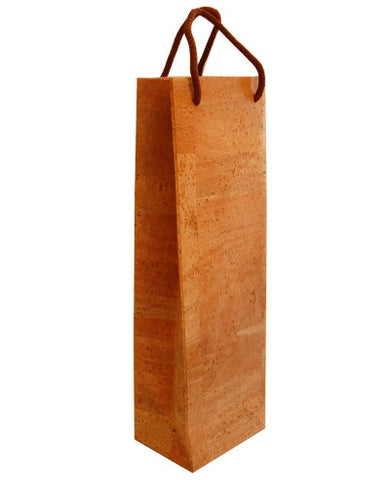 Cork Single Bottle Wine Carrier