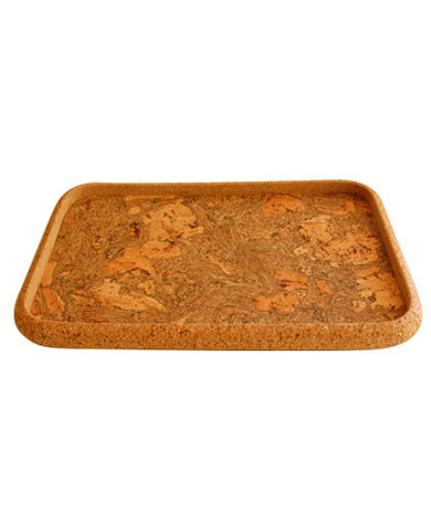 Cork Rectangle Serving Tray