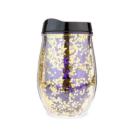 Violet Glitter Stemless Wine Tumbler by Blush®