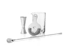 4-Piece Stainless Steel Mixologist Barware Set by Viski®