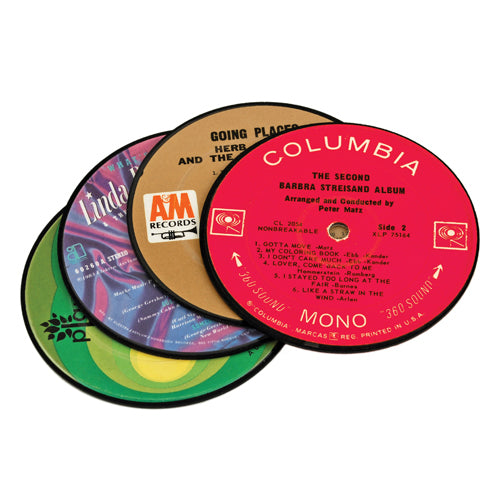 Recycled Record Coasters Set