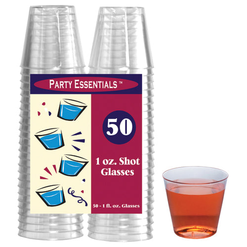 1 oz. Clear Shot Glasses