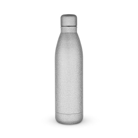 Comet: Silver Glitter Water Bottle