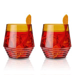Amber Deco Cocktail Glasses by Viski®