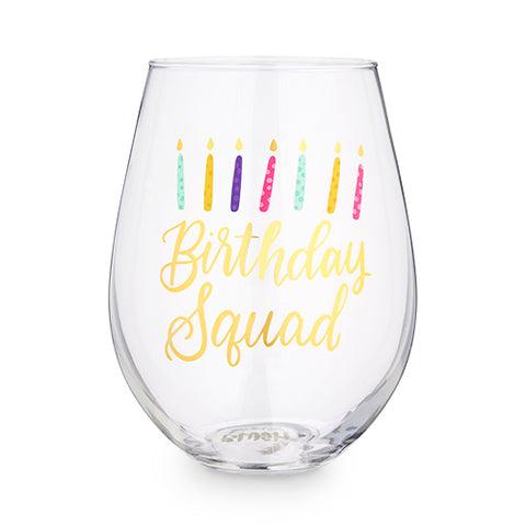 Birthday Squad 30 oz Stemless Wine Glass by Blush®