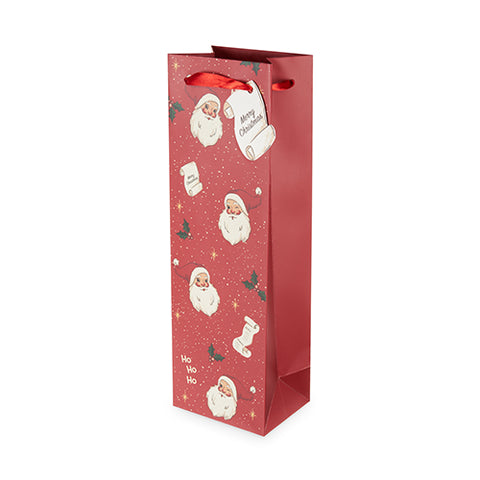 Santa's List Single-Bottle Wine Bag by Cakewalk