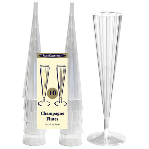 5 oz. Clear Champagne Flutes