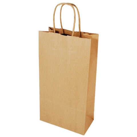 2-Bottle Kraft Bag