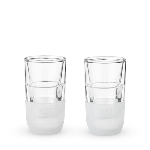 Glass FREEZE™ Shot Glass (set of two) by HOST®