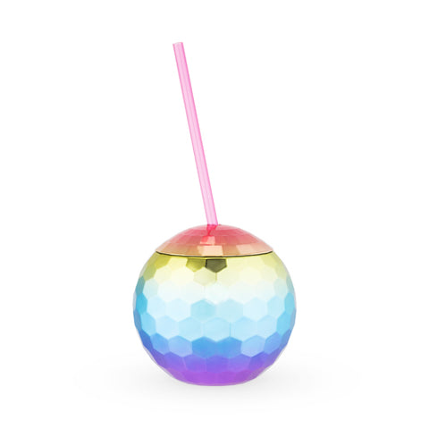 Rainbow Disco Ball Tumbler