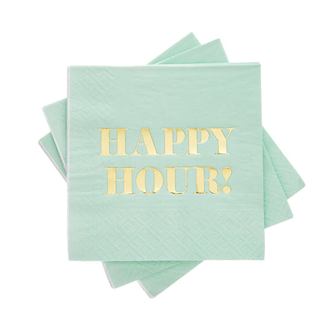 Happy Hour Cocktail Napkin by Cakewalk