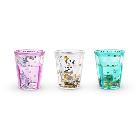 Mermaid Sparkle Glitter Shot Glasses by Blush®