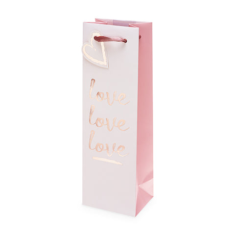 Love Love Love Single-Bottle Wine Bag by Cakewalk