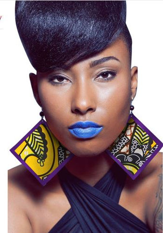 African Fabric Earrings-Earrings-The Royal Bash