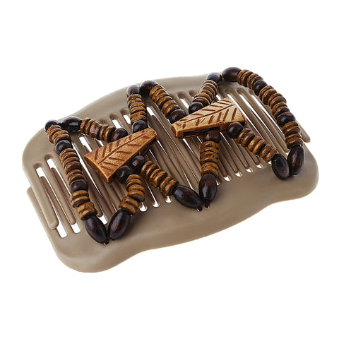 Wood Beads Double Hair Comb Clip-Hair Accessories-The Royal Bash