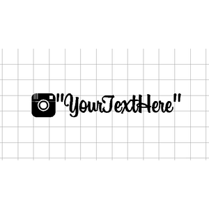 "Fast Lane Graphix: Custom Instagram Sticker ""your text here"",Matte White,stickers, decals, vinyl, custom, car, love, automotive, cheap, cool, Graphics, decal"