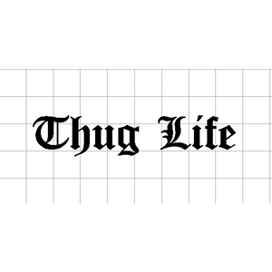 Fast Lane Graphix: Thug Life Sticker,White,stickers, decals, vinyl, custom, car, love, automotive, cheap, cool, Graphics, decal