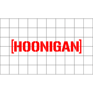 Fast Lane Graphix: Hoonigan Sticker,Matte White,stickers, decals, vinyl, custom, car, love, automotive, cheap, cool, Graphics, decal