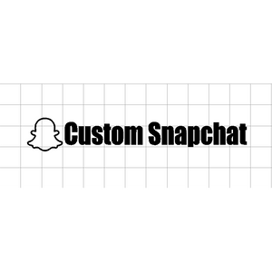 "Custom Snapchat Name Sticker ""your text here"" - stickers, decals, custom, vinyl"