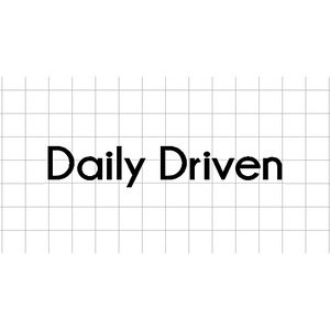 Fast Lane Graphix: Daily Driven V2 Sticker,White,stickers, decals, vinyl, custom, car, love, automotive, cheap, cool, Graphics, decal