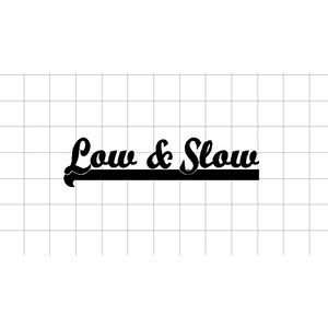 Fast Lane Graphix: Low & Slow Sticker,Matte White,stickers, decals, vinyl, custom, car, love, automotive, cheap, cool, Graphics, decal