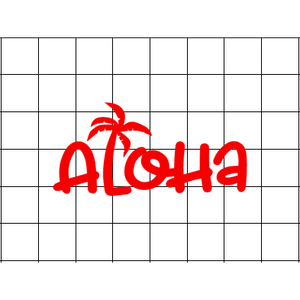 Fast Lane Graphix: Aloha Palm Tree Sticker,White,stickers, decals, vinyl, custom, car, love, automotive, cheap, cool, Graphics, decal