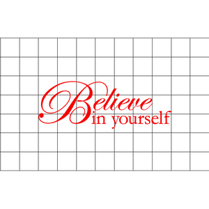 Fast Lane Graphix: Believe In Yourself Sticker,White,stickers, decals, vinyl, custom, car, love, automotive, cheap, cool, Graphics, decal