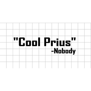 Fast Lane Graphix: Cool Prius -Nobody Sticker,White,stickers, decals, vinyl, custom, car, love, automotive, cheap, cool, Graphics, decal