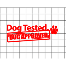 Fast Lane Graphix: Dog Tested Dog Approved Sticker,Matte White, stickers, decals, vinyl, custom, car, love, automotive, cheap, cool, Graphics, decal, nice