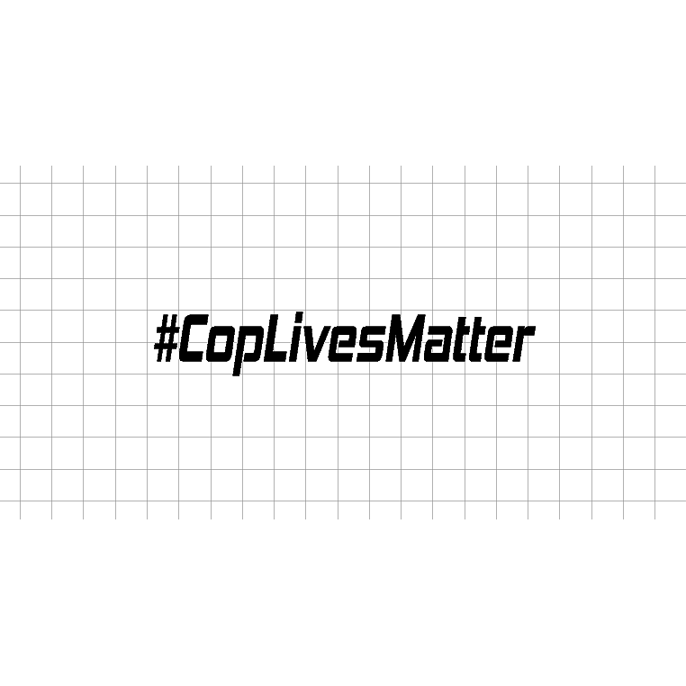 Fast Lane Graphix: #CopLivesMatter Sticker,White,stickers, decals, vinyl, custom, car, love, automotive, cheap, cool, Graphics, decal