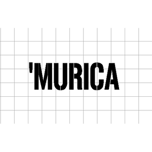 Fast Lane Graphix: 'Murica Sticker,White,stickers, decals, vinyl, custom, car, love, automotive, cheap, cool, Graphics, decal