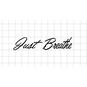 Fast Lane Graphix: Just Breathe Sticker,White,stickers, decals, vinyl, custom, car, love, automotive, cheap, cool, Graphics, decal