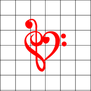 Fast Lane Graphix: Music Note Heart V2 Sticker,White,stickers, decals, vinyl, custom, car, love, automotive, cheap, cool, Graphics, decal