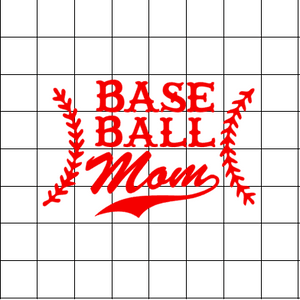 Fast Lane Graphix: BaseBall Mom Sticker,White,stickers, decals, vinyl, custom, car, love, automotive, cheap, cool, Graphics, decal