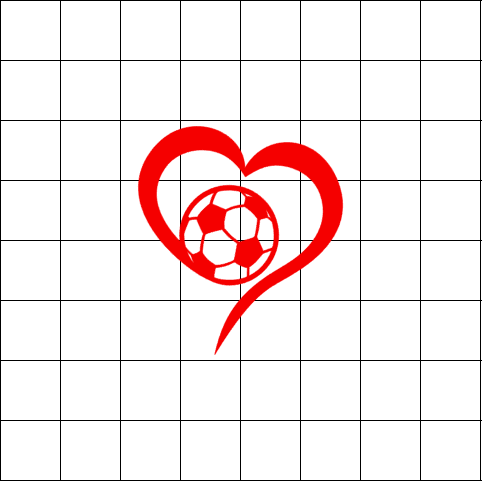 Fast Lane Graphix: Soccer Heart Sticker,White,stickers, decals, vinyl, custom, car, love, automotive, cheap, cool, Graphics, decal