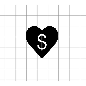 Fast Lane Graphix: Money Heart Sticker,White,stickers, decals, vinyl, custom, car, love, automotive, cheap, cool, Graphics, decal