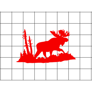 Fast Lane Graphix: Moose In Woods Silhouette Sticker,White,stickers, decals, vinyl, custom, car, love, automotive, cheap, cool, Graphics, decal
