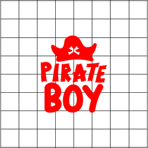 Fast Lane Graphix: Pirate Boy Sticker,Matte White, stickers, decals, vinyl, custom, car, love, automotive, cheap, cool, Graphics, decal, nice