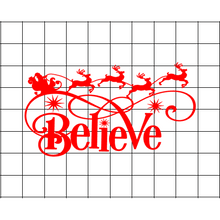 Fast Lane Graphix: Believe In Santa Sticker,Matte White, stickers, decals, vinyl, custom, car, love, automotive, cheap, cool, Graphics, decal, nice